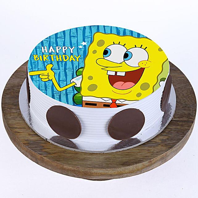 SpongeBob Photo Cake- Pineapple Half Kg