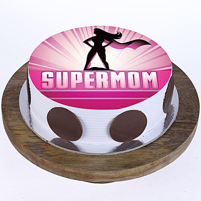 Supermom Pineapple Photo Cake- Half Kg