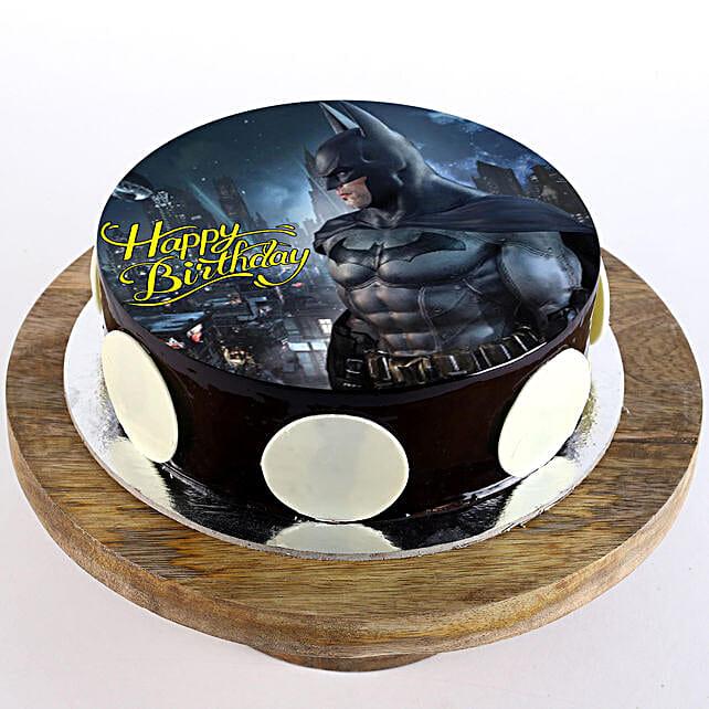 The Batman Chocolate Truffle Photo Cake- Half Kg