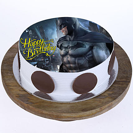 The Batman Photo Cake- Pineapple Half Kg Eggless