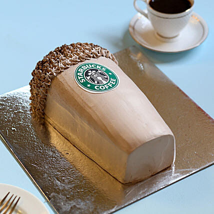 Designer Starbucks Cake 3Kg Eggless Chocolate