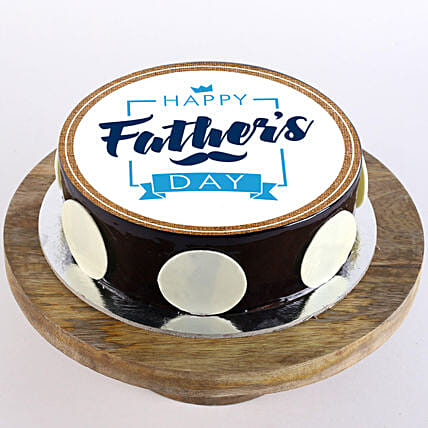 Father's Day Photo Cake- Truffle 1 Kg Eggless