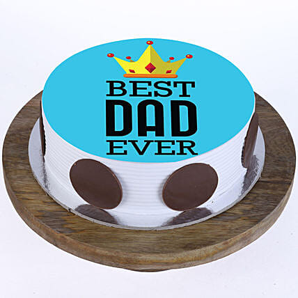 Best Dad Ever Photo Cake- Pineapple 2 Kg
