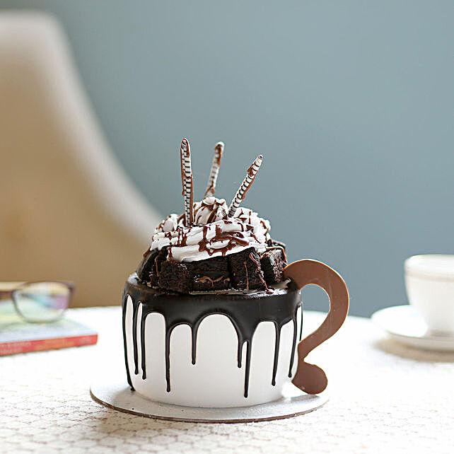 Frosty Mug Designer Black Forest Cake- 1.5 Kg Eggless