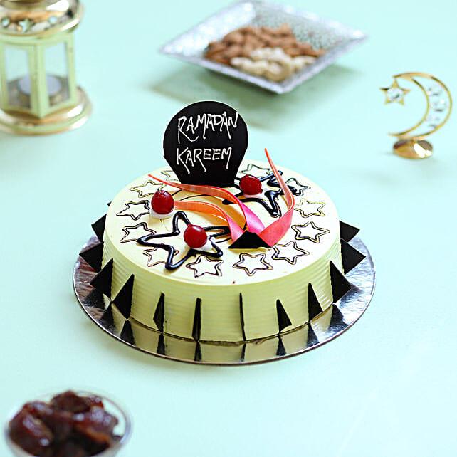 Ramadan Kareem Vanilla Cake- 1 Kg Eggless