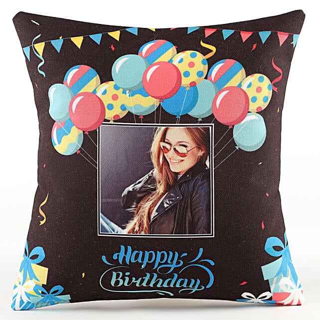 Birthday Balloon Printed Cushion Online