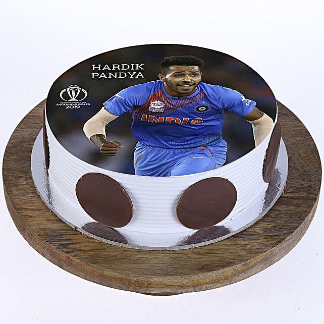 Hardik Pandya Photo Cake- Vanilla Half Kg Eggless
