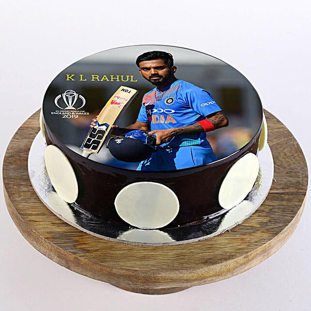 K. L. Rahul Photo Cake- Truffle 2 Kg
