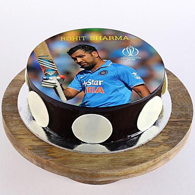 Rohit Sharma Photo Cake- Chocolate 1 Kg
