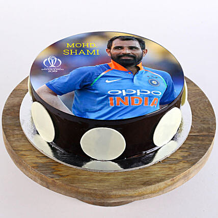 Mohd. Shami Photo Cake- Chocolate Half Kg Eggless