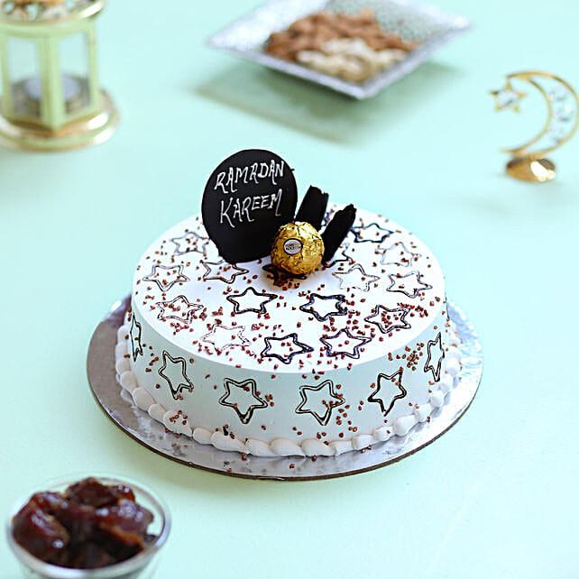 Starry Ramadan Chocolate Cake- 1 Kg Eggless