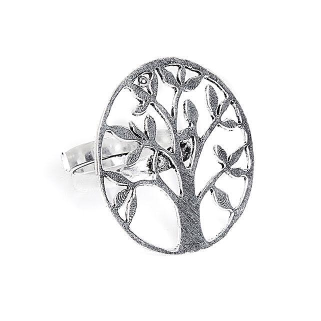 Adjustable Oxidized Silver Vintage Ring