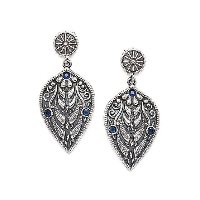 Leafy Silver Plated Earrings