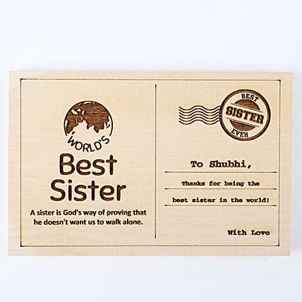 Personalised Best Sister Postcard