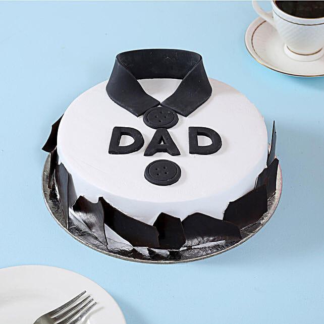 Classic Fondant Dad Cake 1kg Eggless Black Forest