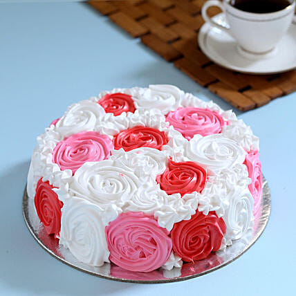 Yummy Colourful Rose Cake 2 Kg Pineapple