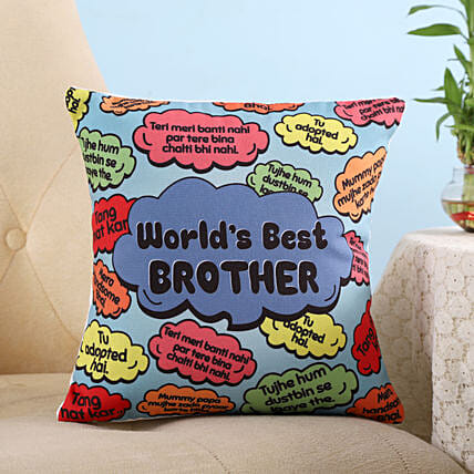 Funny Dialogues World Best Brother Cushion