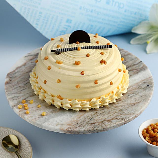 Heavenly Butterscotch Cream Cake- 1 Kg Eggless