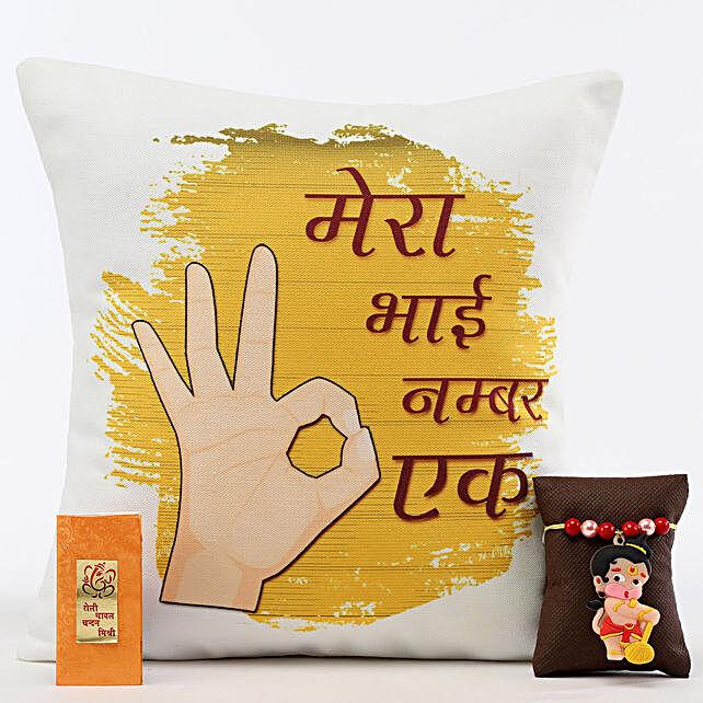 Ek Number Bhai Cushion & Bal Hanuman Rakhi