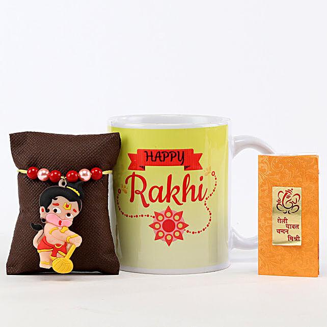Happy Rakhi Mug & Bal Hanuman Rakhi