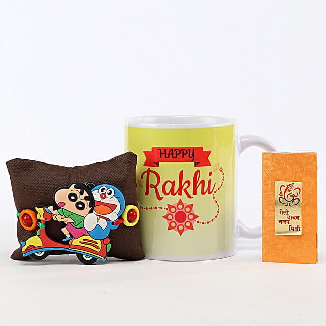 Happy Rakhi Mug & Shinchan Rakhi