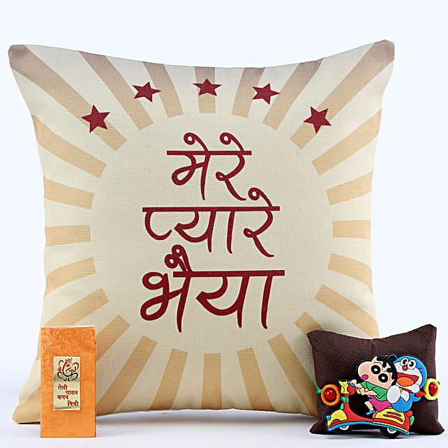 Pyare Bhaiya Cushion & Shinchan Rakhi