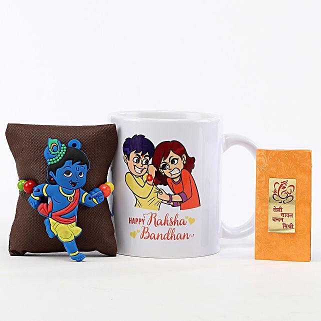 Rakshabandhan Mug & Little Krishna Rakhi