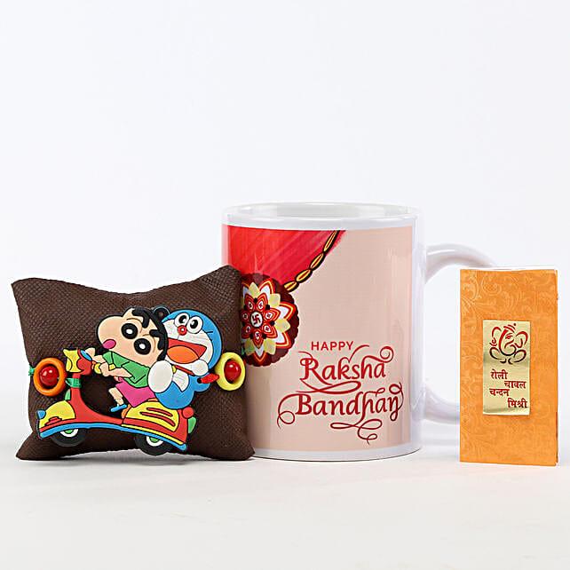 Rakshabandhan Printed Mug & Shinchan Rakhi