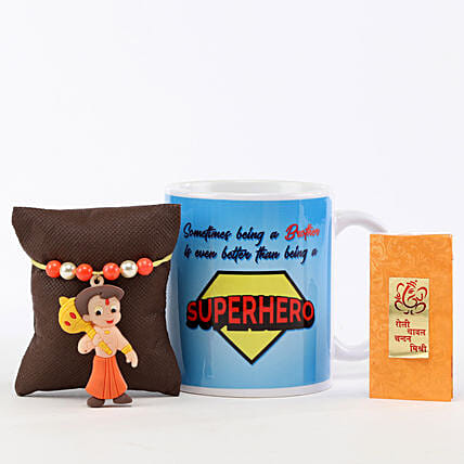Superhero Brother Mug & Chhota Bheem Rakhi