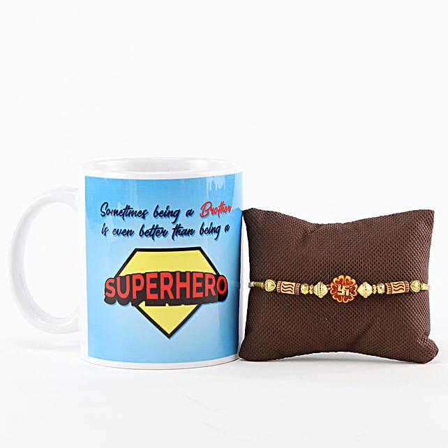 Superhero Brother Mug & Swastik Rakhi