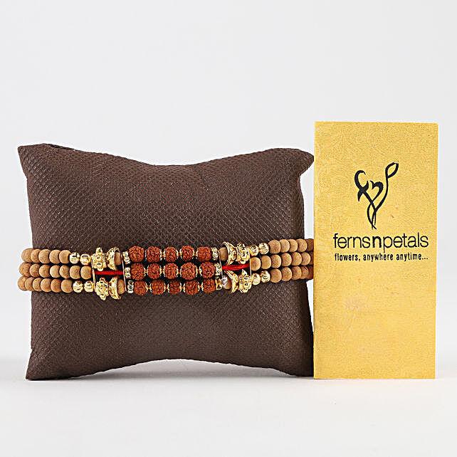 Rudraksh Bracelet Designer Rakhi