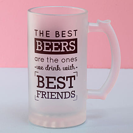 Frosted Beer Mug For Best Friend