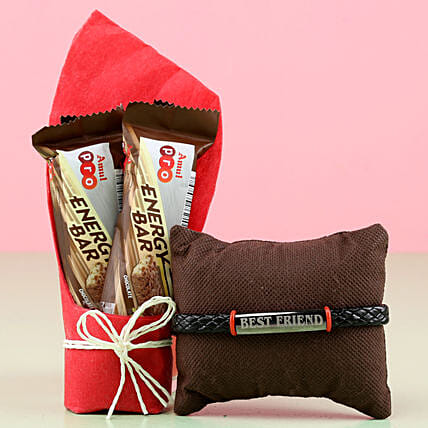 Online Amul Chocolates With Friendship Band:Friendship Day Bands