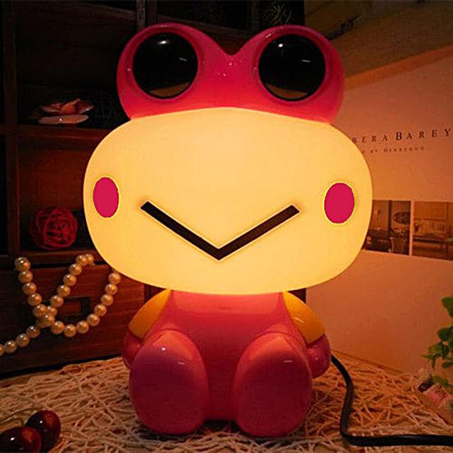 Pink Frog Night Lamp