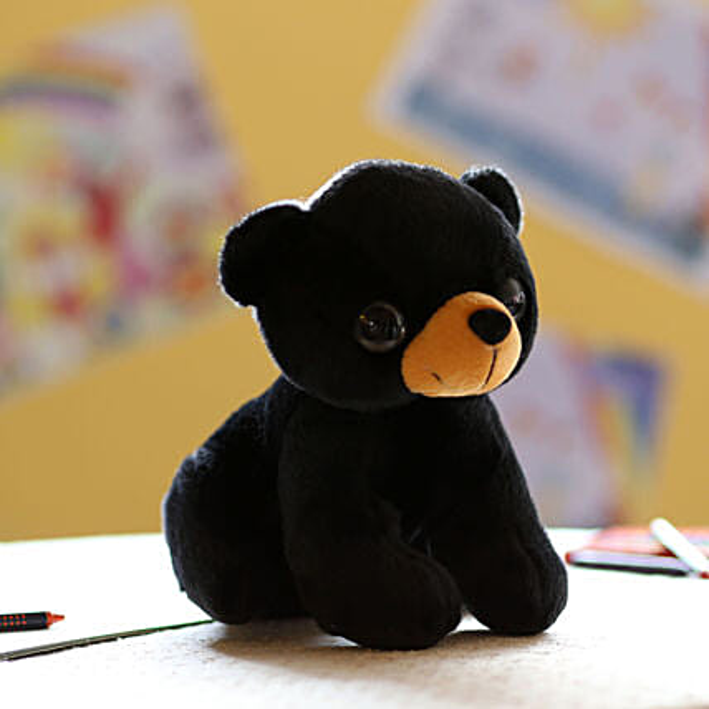 Adorable Black Dog Soft Toy