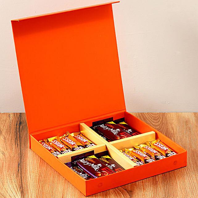 Orange Gift Box Of Chocolates