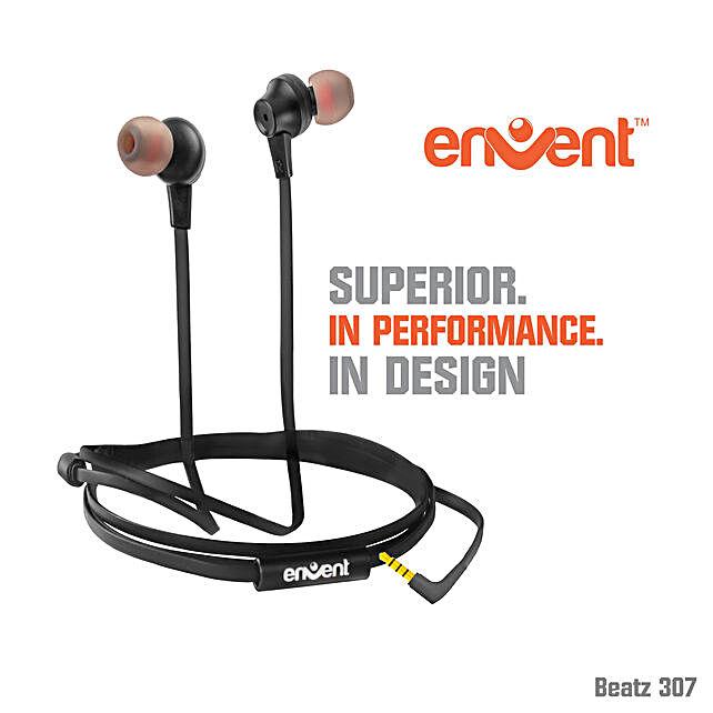 Black Envent Wired Earphone