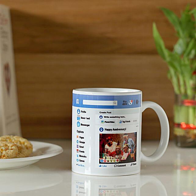 Personalised Facebook Anniversary Mug