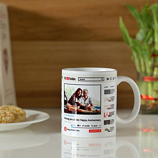 Personalised YouTube Anniversary Mug