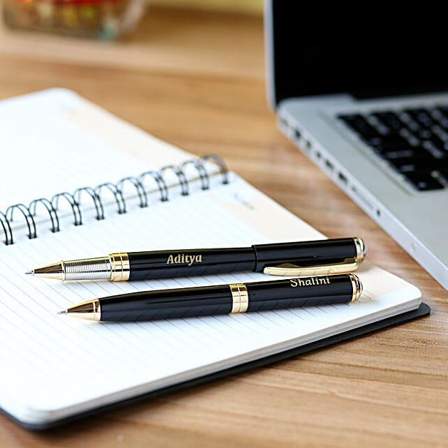 Personalised Roller Pen Set:Send Personalised Pens