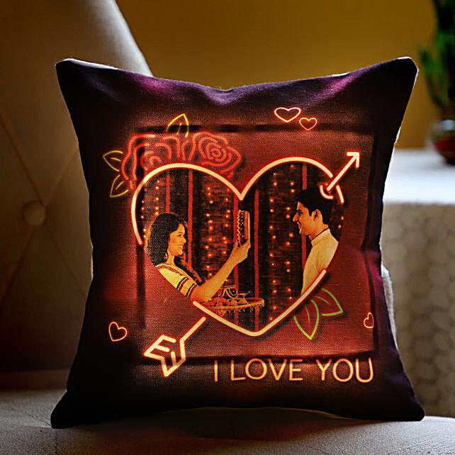 LED Photo Cushion for Couple