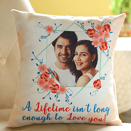 Couple Photo Printed Cushion Online