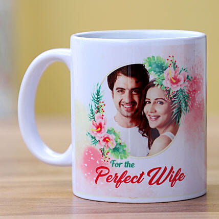 Photo Mug for Couple Online:Send Karwa Chauth Personalised Gifts