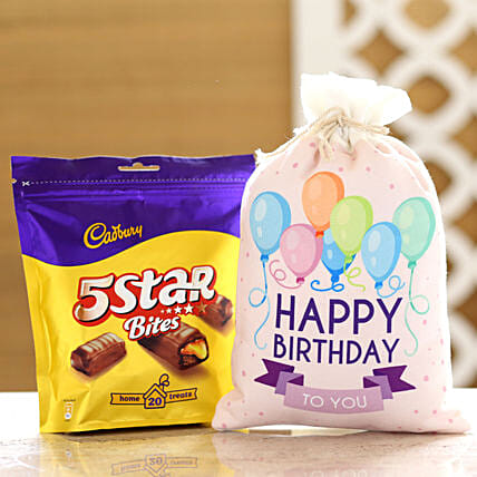 Cadbury 5 Star Pack & Birthday Gunny Bag