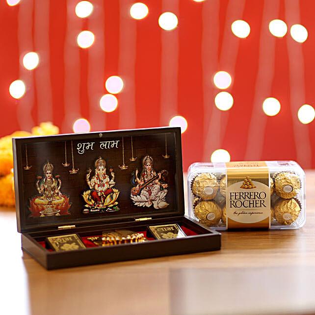 Diwali Pooja Box & Ferrero Rocher