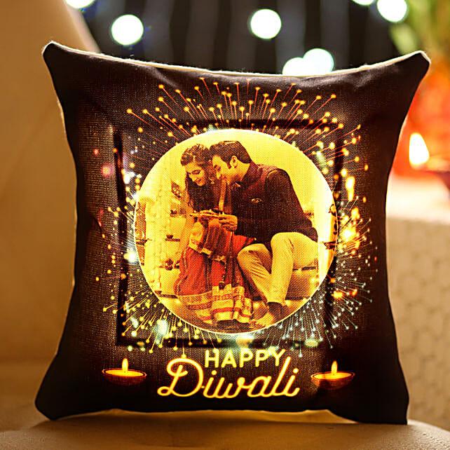 led printed cushion for diwali