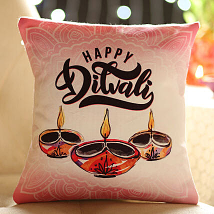 Diwali Wished Printed Cushion