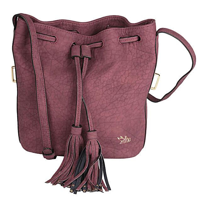 Suave Maroon Sling Bag