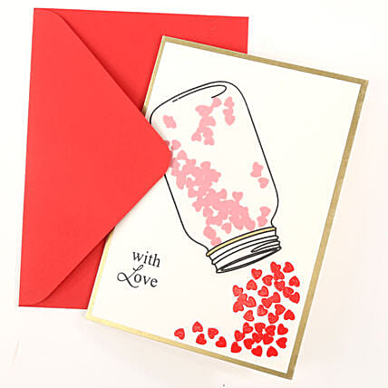 Love Jar Greeting Card