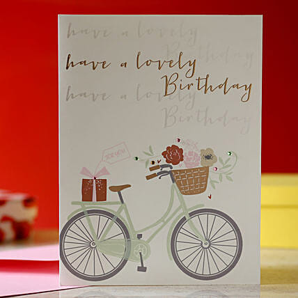 attractive printed design birthday card